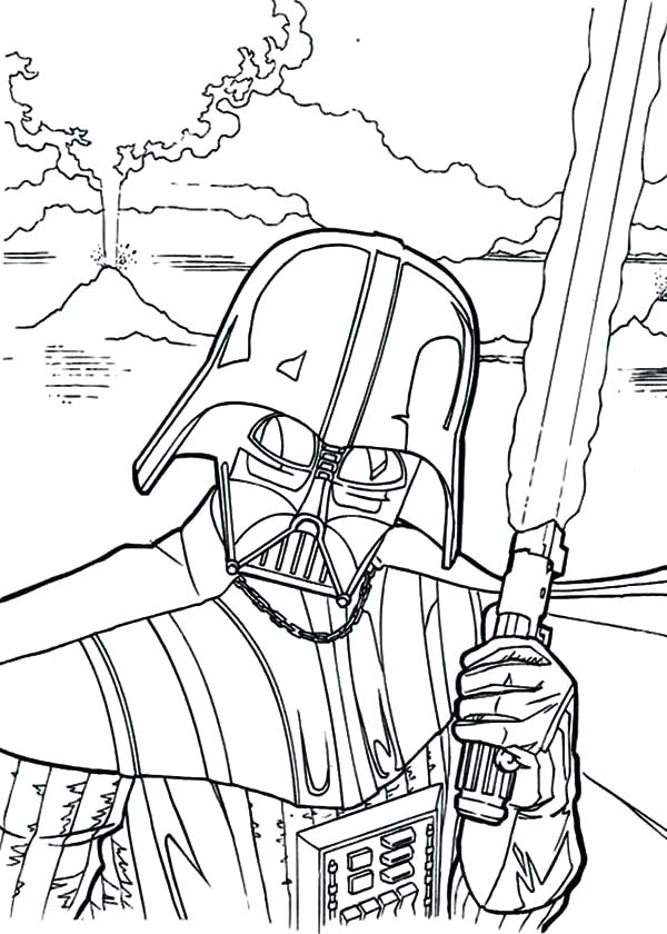 600x840 Darth Vader Coloring Pages Coloring Pages Star Wars The Evil