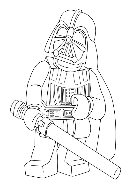 550x778 Lego Darth Vader Coloring Pages