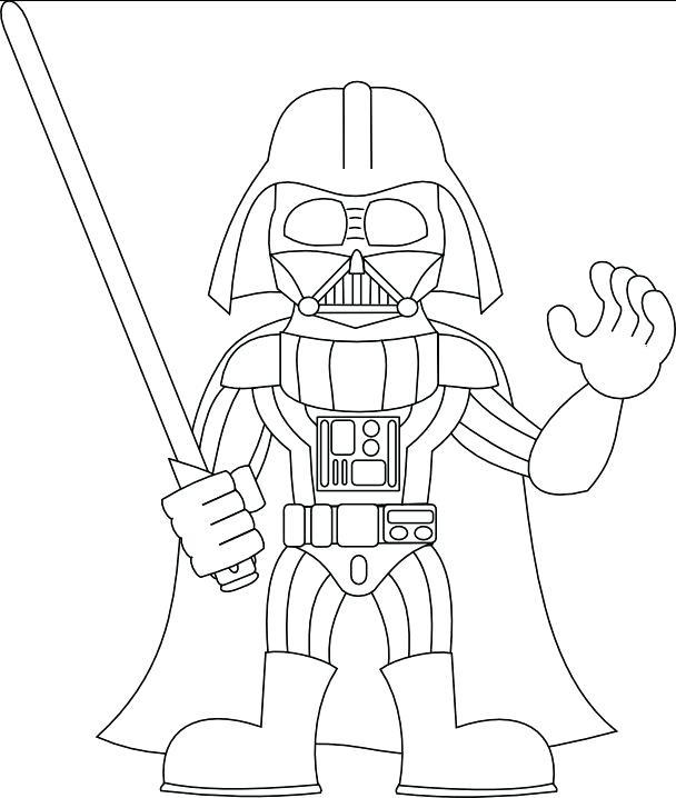 608x718 Darth Vader Coloring Page Darth Vader Coloring Pages Printable
