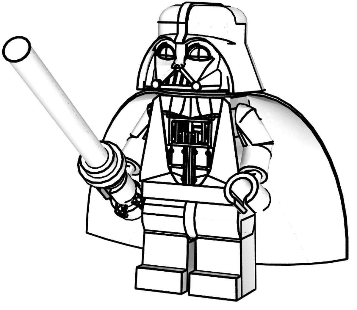 1200x1042 Darth Vader Coloring Page Lego Star Wars Pages For Kids Printable