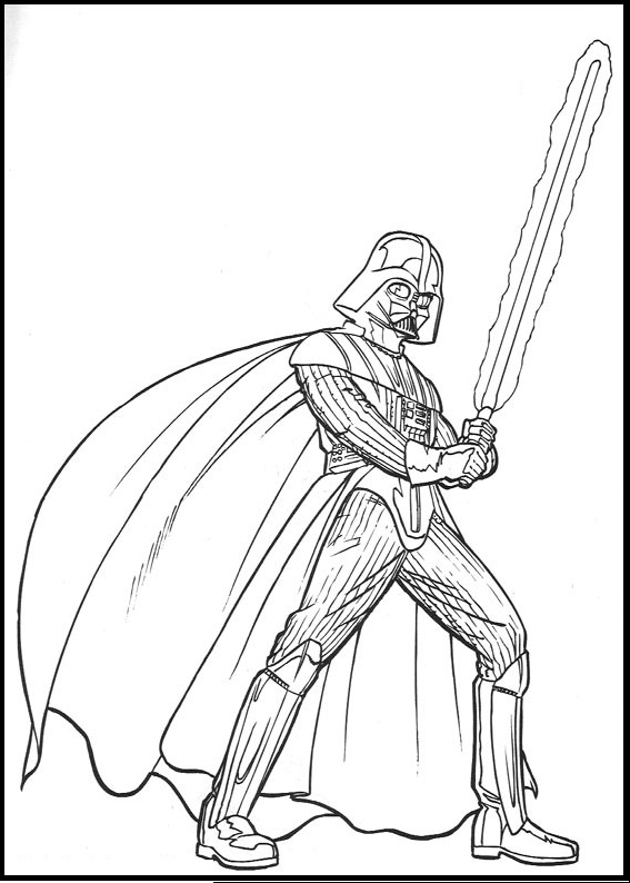 567x794 Drawn Darth Vader Printable Pencil And In Color Coloring Pages