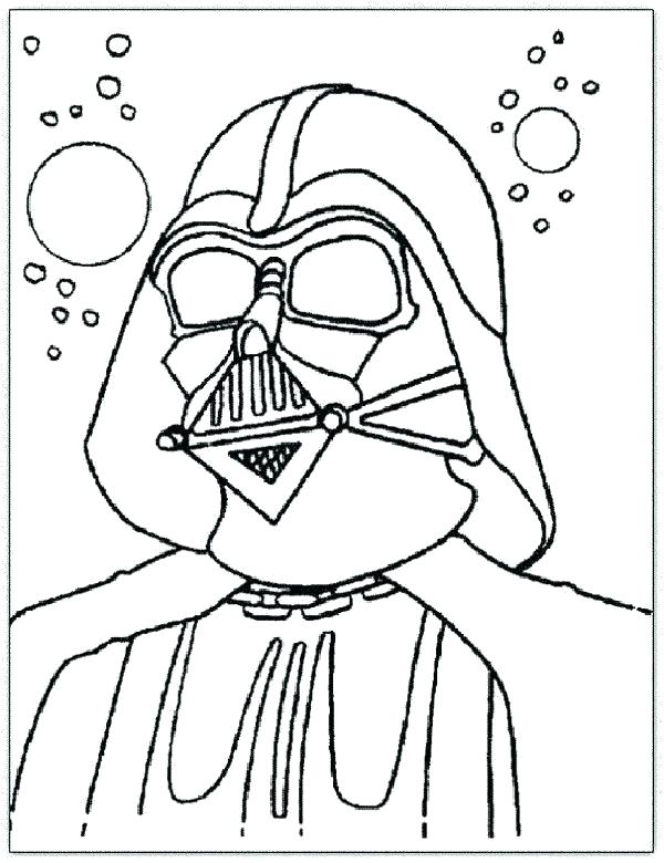 600x780 Free Printable Lego Darth Vader Coloring Pages Page Star Wars Head