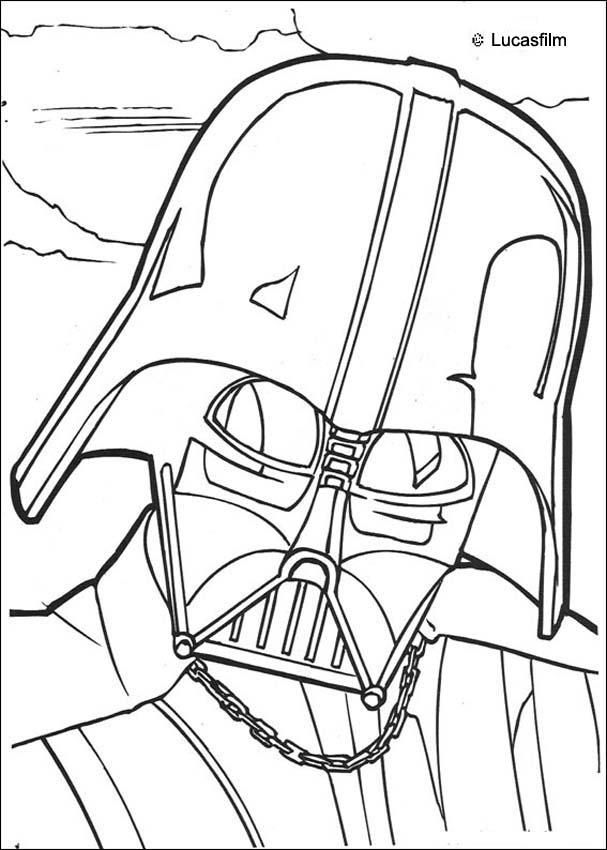 607x850 Go Green And Color Online This Darth Vader Mask Coloring Page You