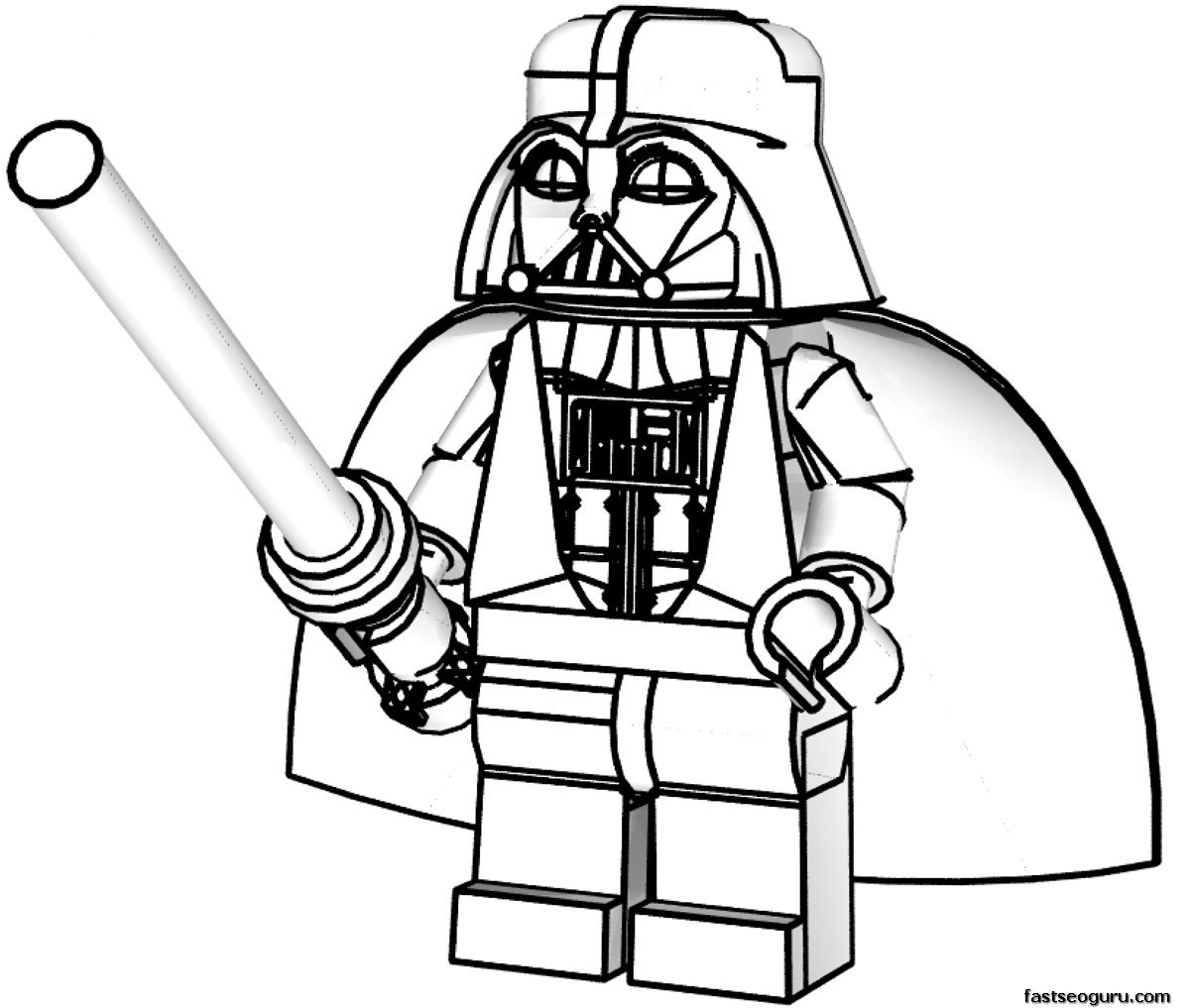 1200x1017 Lego Clipart Star Wars Darth Vader Coloring Page