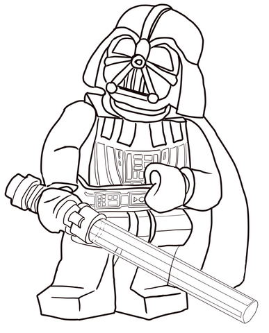 387x480 Lego Darth Vader Coloring Pages