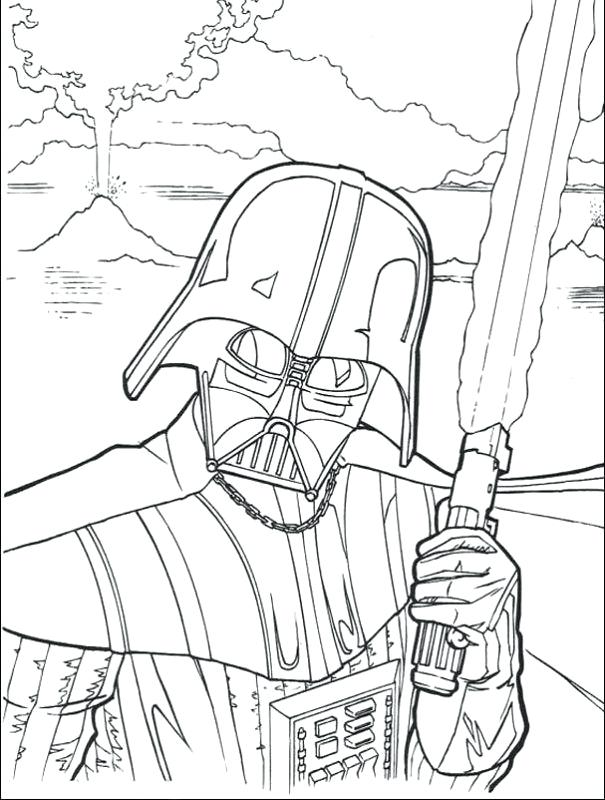 605x800 Star Wars Darth Vader Coloring Pages Printable To Print Pictures