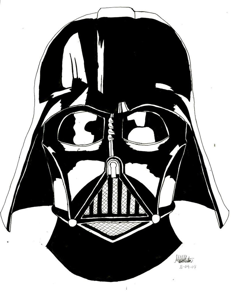 photograph relating to Darth Vader Printable known as Darth Vader Mask Coloring Webpage at  Totally free for
