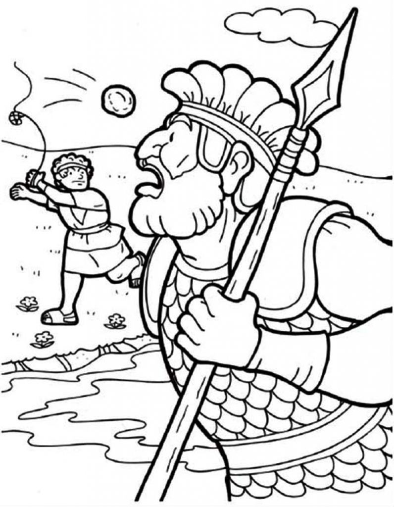 David And Goliath Coloring Page at GetDrawings | Free download