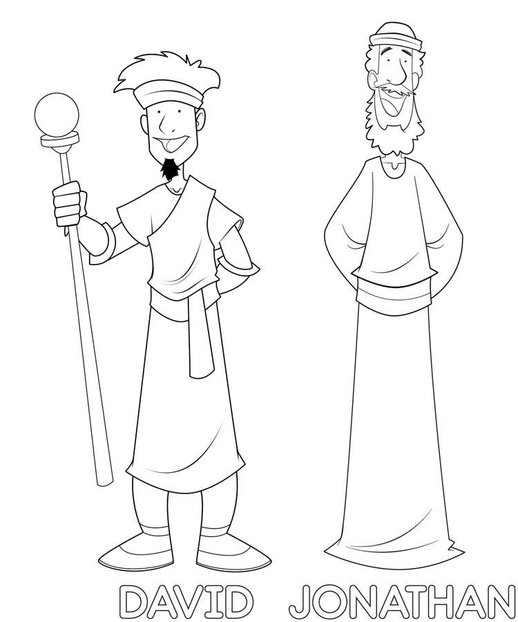 David And Jonathan Friendship Coloring Pages