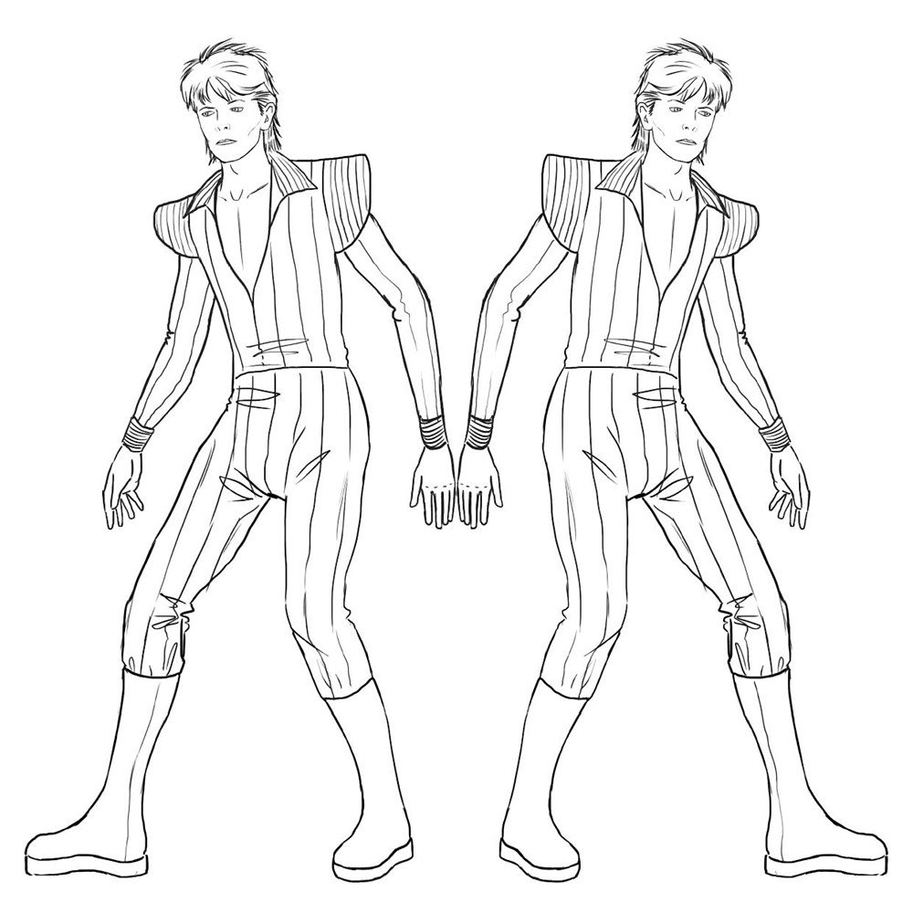David Bowie Coloring Pages