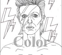 200x179 David Bowie Coloring Book Sweet Design