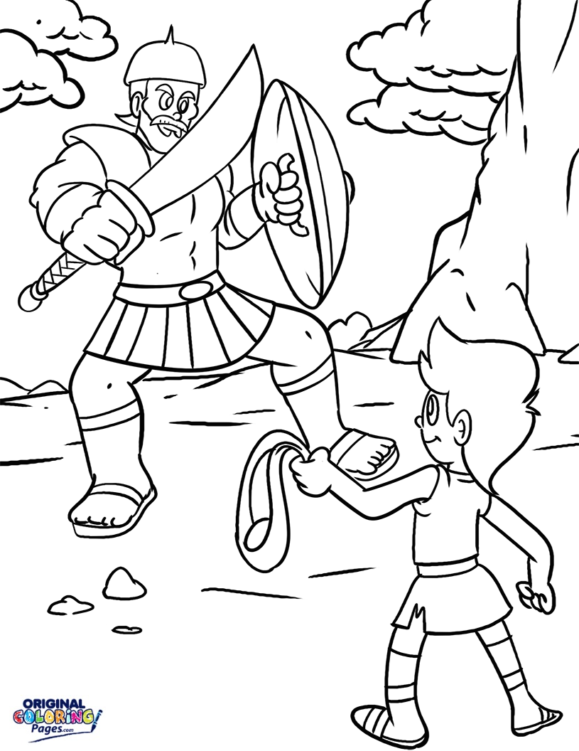815x1056 David And Goliath Bible Coloring Page Coloring Pages Original