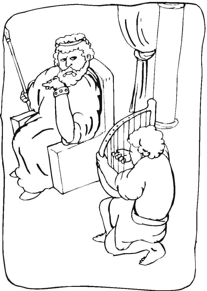 856x1200 Free Coloring Pages Of David Spares Saul Sketch Coloring Page