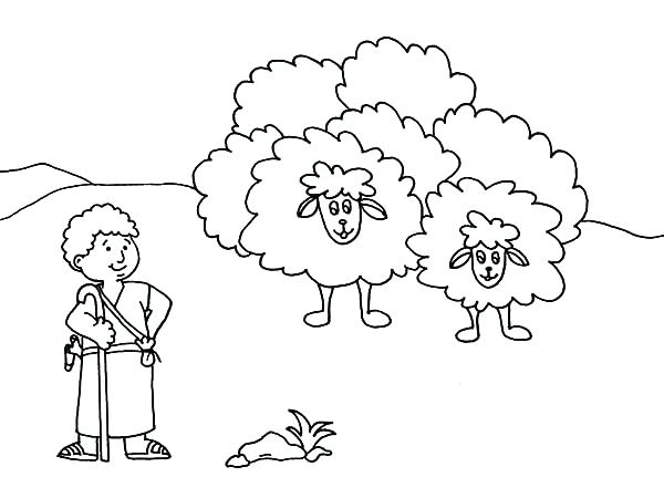 600x450 King David Coloring Pages The Shepherd Boy We Com King Coloring