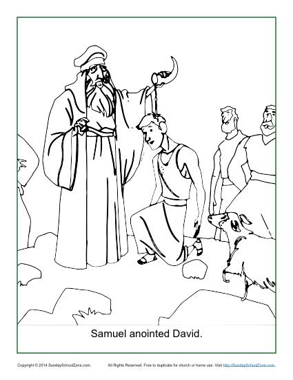 425x550 Samuel Anointed David Coloring Page