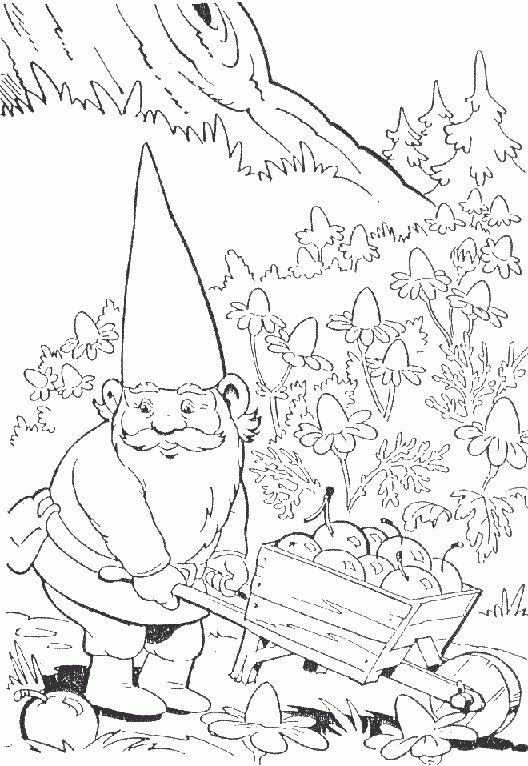 David The Gnome Coloring Pages