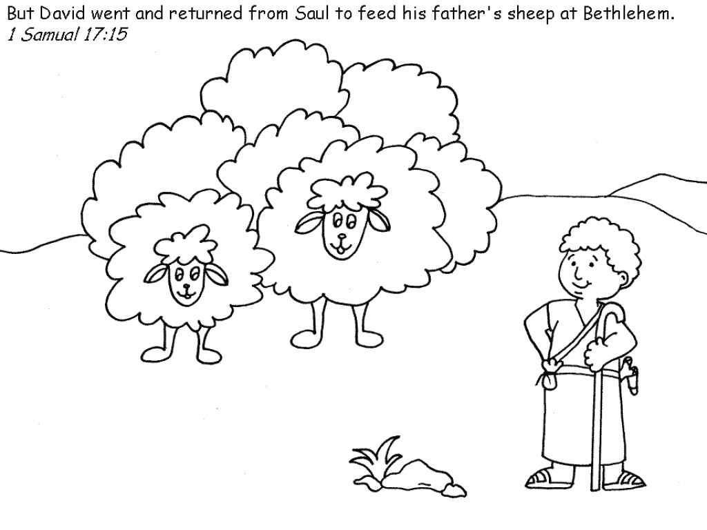 1024x768 Highest David The Shepherd Coloring Page Boy Pages Aecost Net