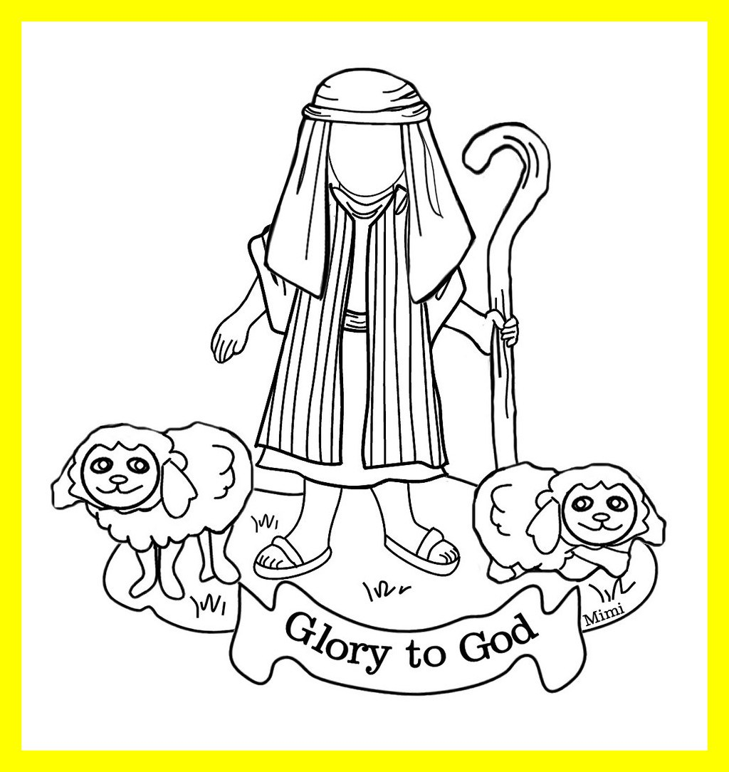 1024x1084 Shocking Coloring Pages Sheep And The Shepherd For David Boy Ideas