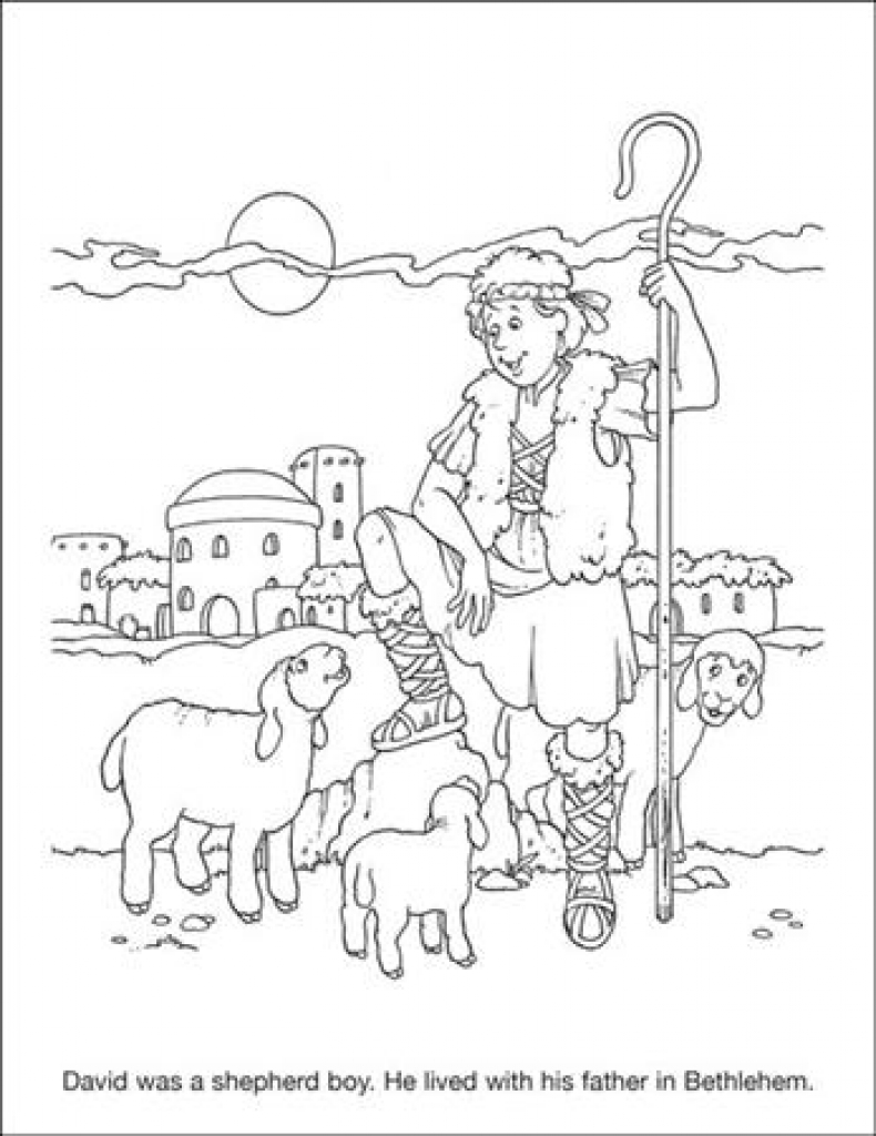 David The Shepherd Boy Coloring Pages at GetDrawings ...