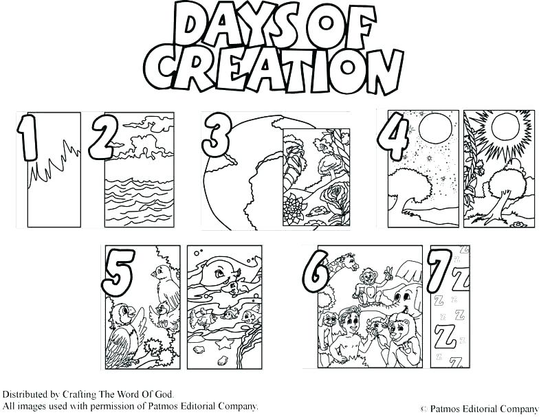 Day 1 Of Creation Coloring Pages