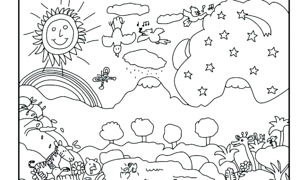1024x600 Creation Coloring Pages Free Creation Coloring Pages Light Day