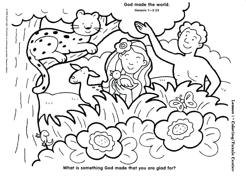 805x592 Creation Coloring Sheet Free Creation Coloring Sheets Preschool