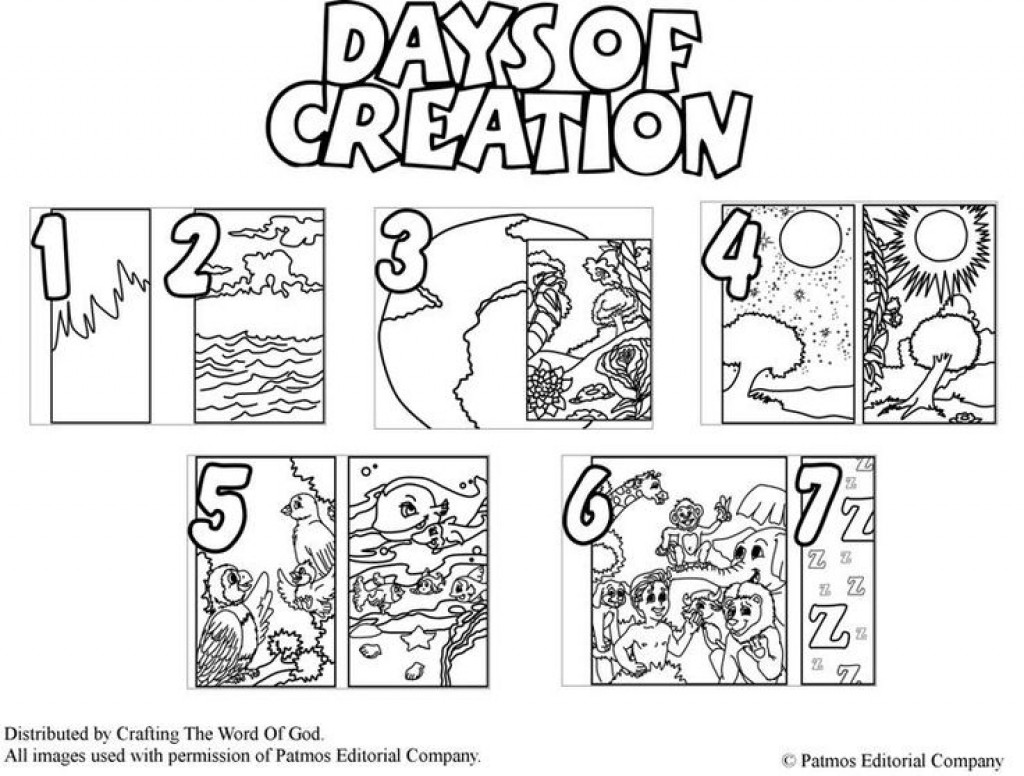1024x776 Days Of Creation Coloring Page