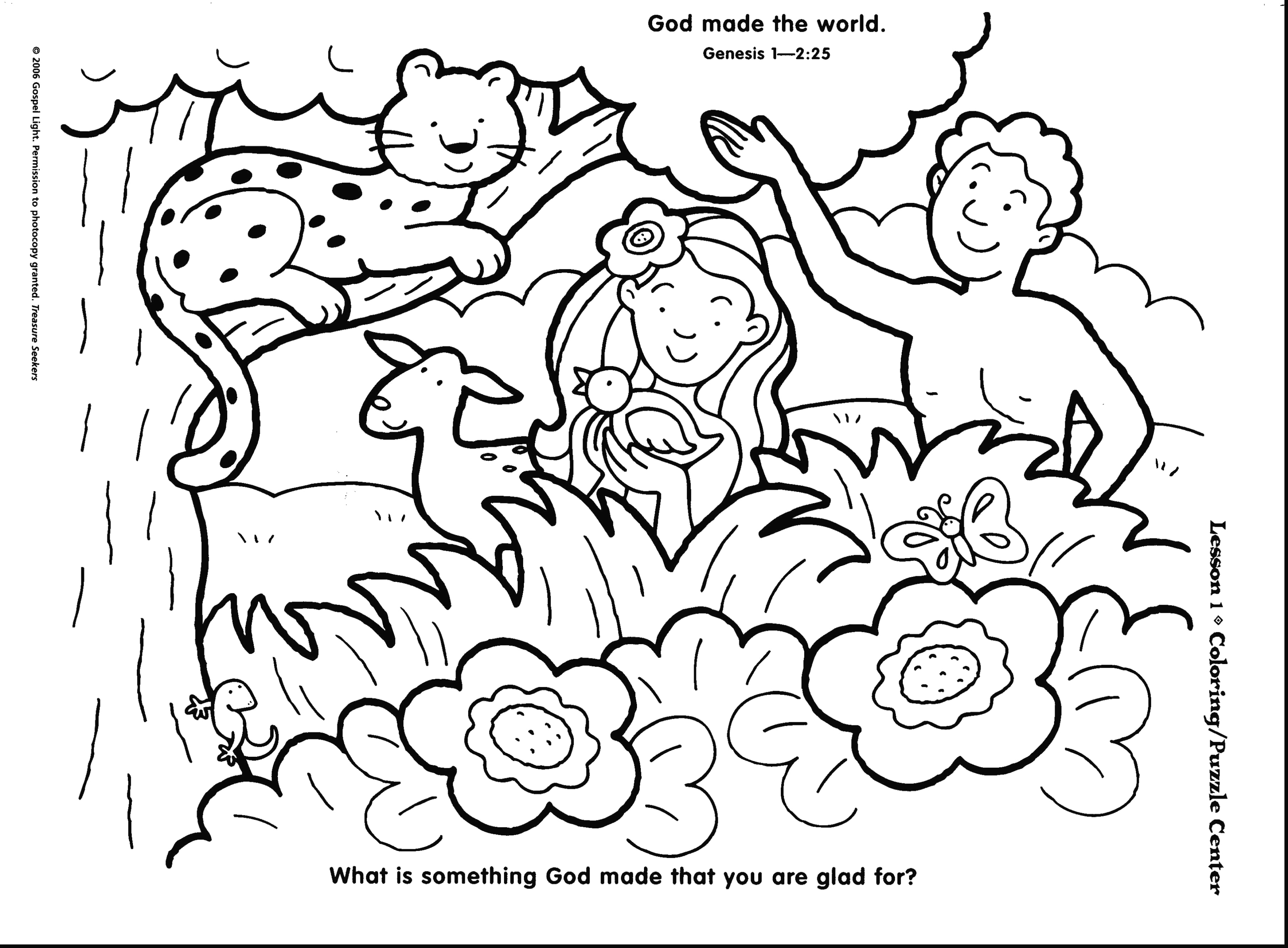 3624x2667 Days Of Creation Coloring Pages