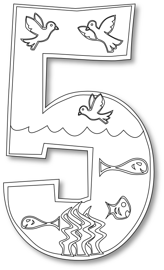 555x915 Days Of Creation Coloring Pages