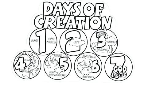 469x304 Days Of Creation Coloring Pages Plus Site New At Gods Day