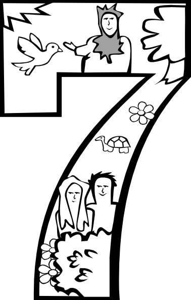 378x592 Gods Creation Coloring Pages Day Creation Day Clip Art