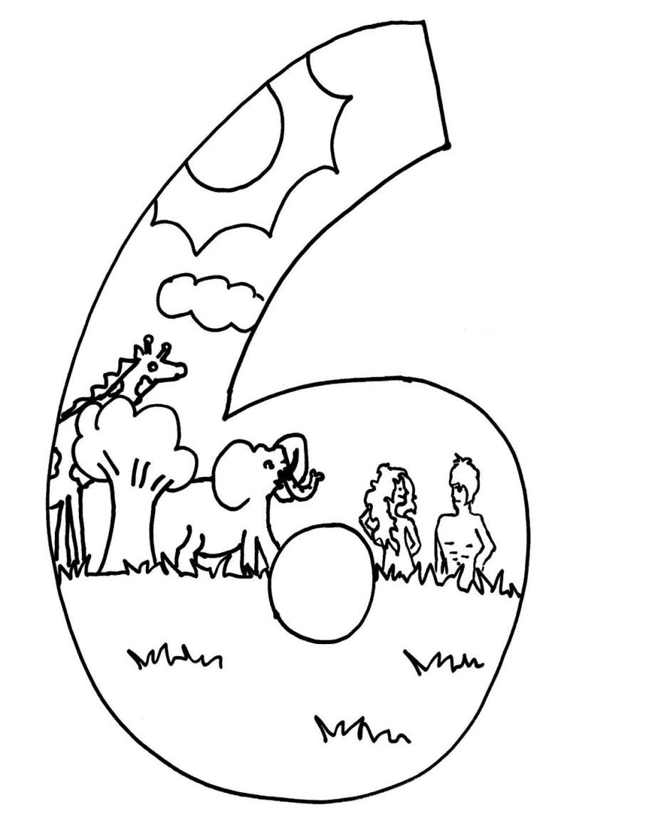 916x1148 Days Of Creation Coloring Pages