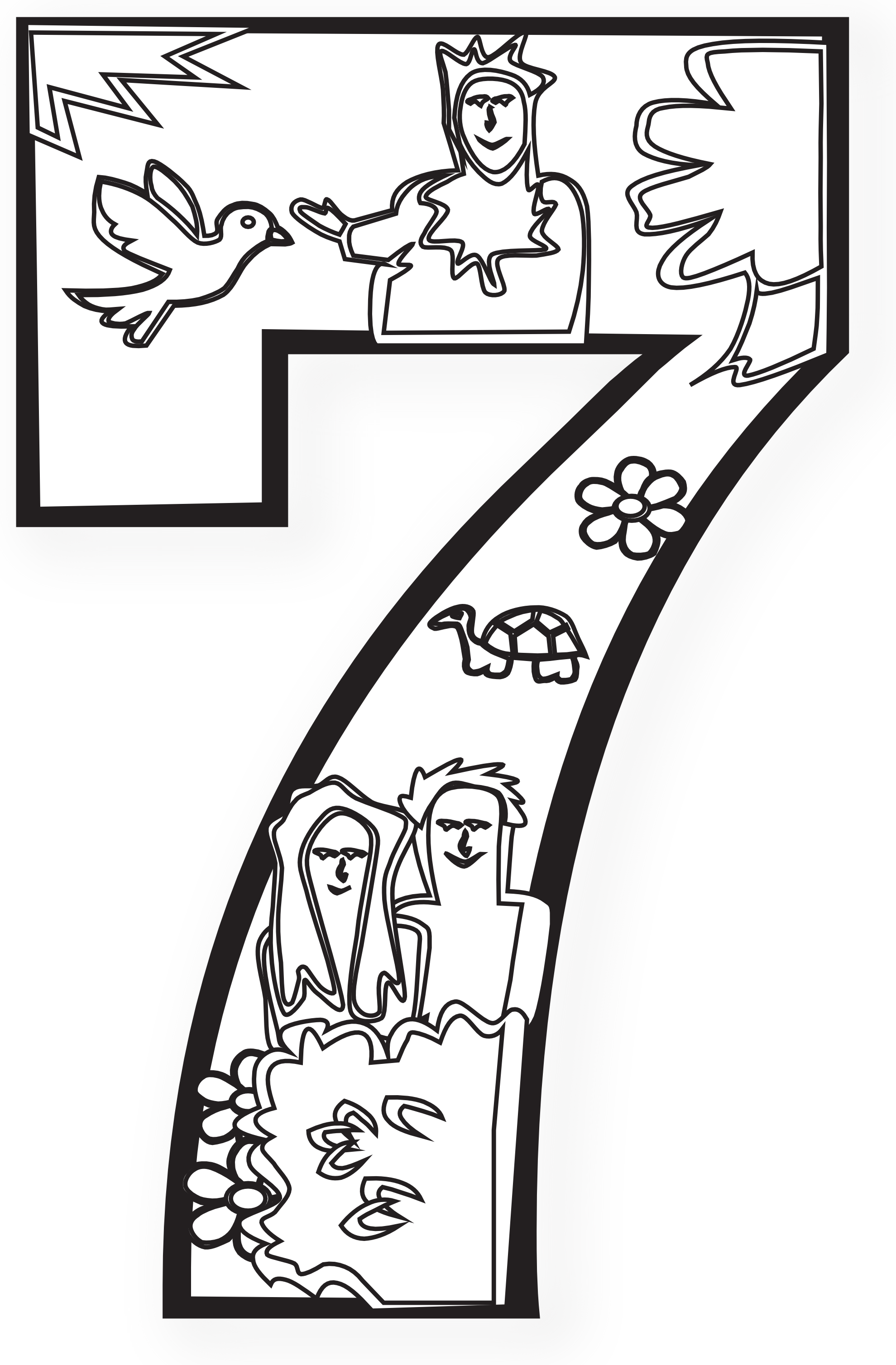 1979x3015 Days Of Creation Coloring Pages