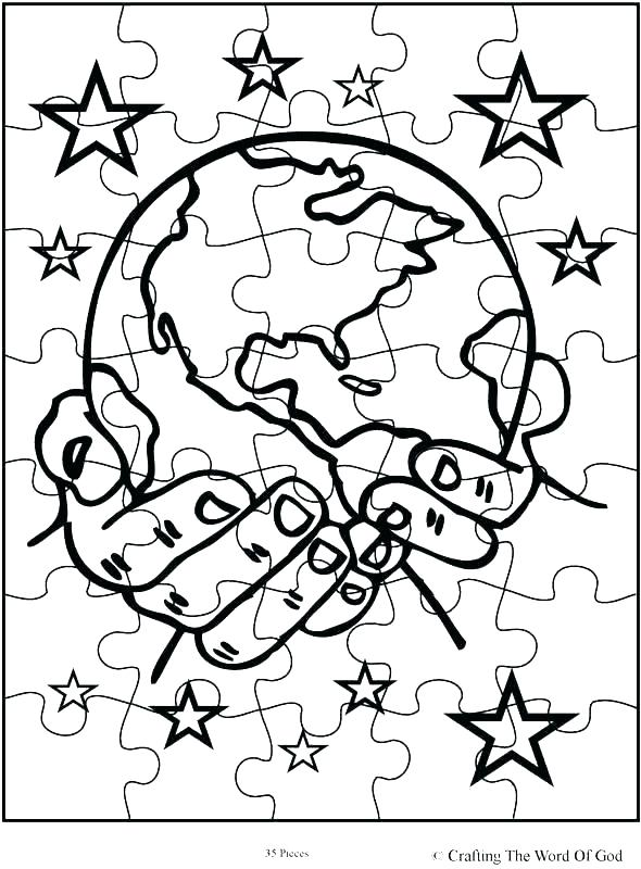 590x800 Puzzle Coloring Pages Days Of Creation Coloring Pages Puzzle