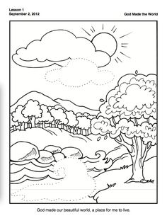 236x315 Creation Coloring Pages For Preschoolers Creation Genesis