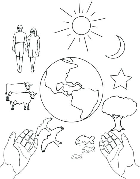 470x601 God Created Day And Night Coloring Page Pages