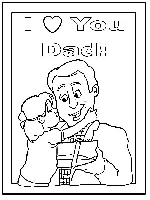 300x400 Father's Day Coloring Pages