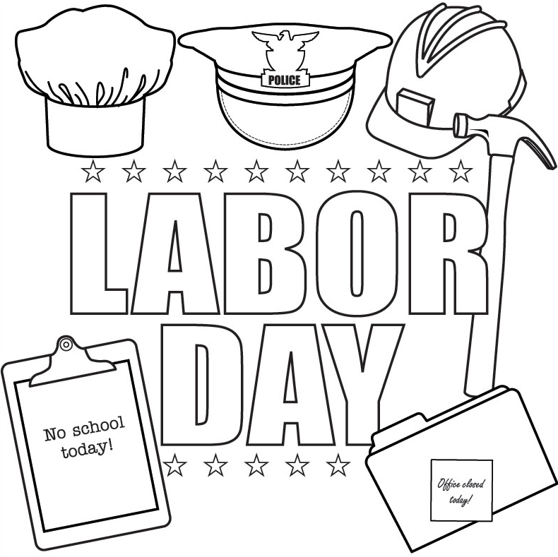 790x789 Labor Day Coloring Page Coloring Book