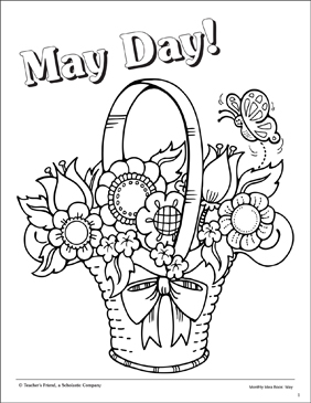 282x365 May Day Coloring Page Printable Coloring Pages
