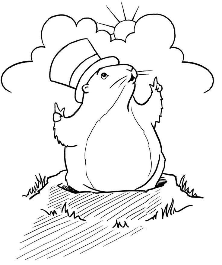 736x877 Mejores De Groundhog Day Coloring Page En