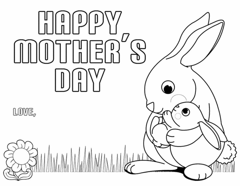 960x743 Free Printable Mother's Day Coloring Pages