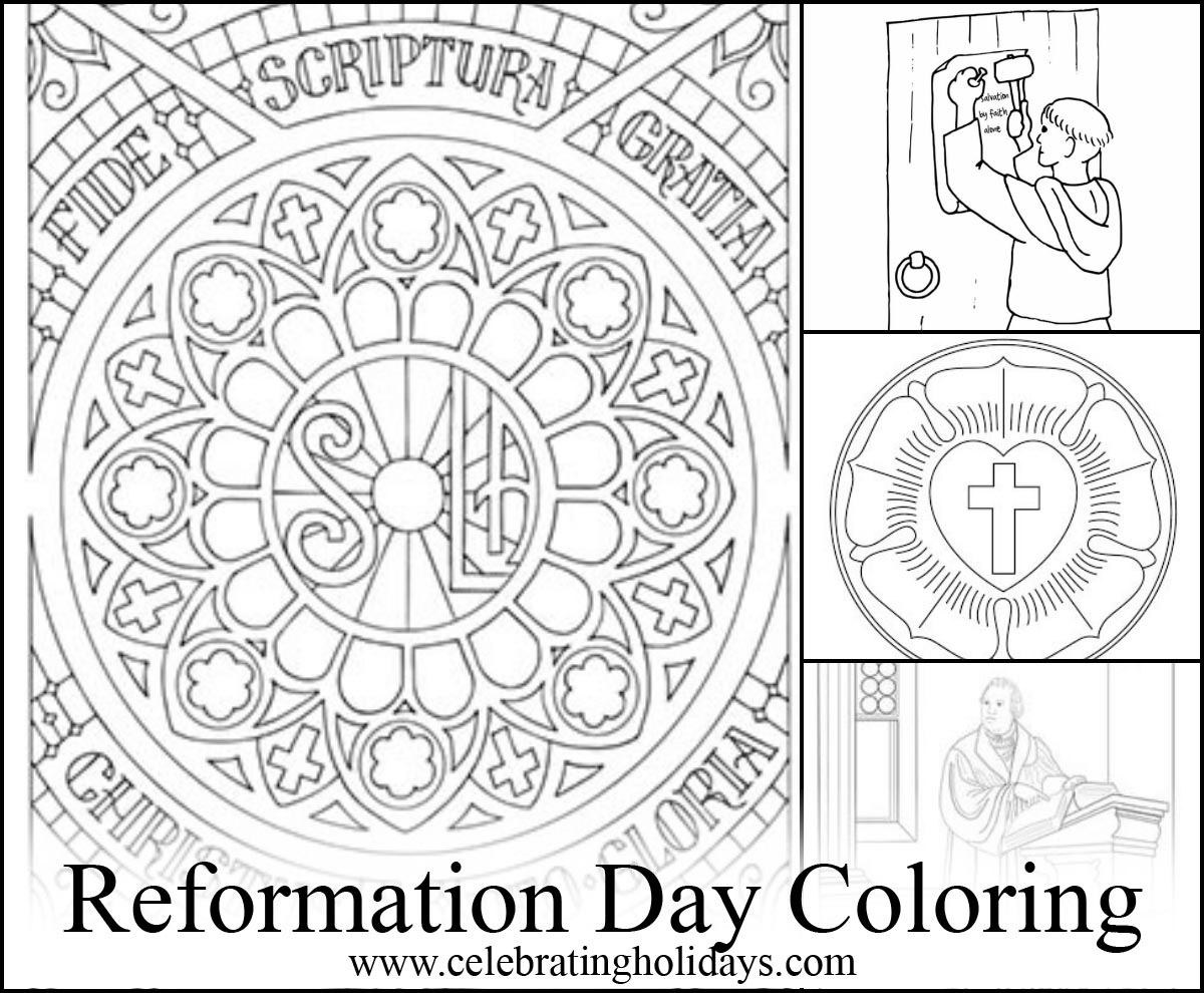 1200x990 Coloring Pages For Reformation Day Celebrating Holidays