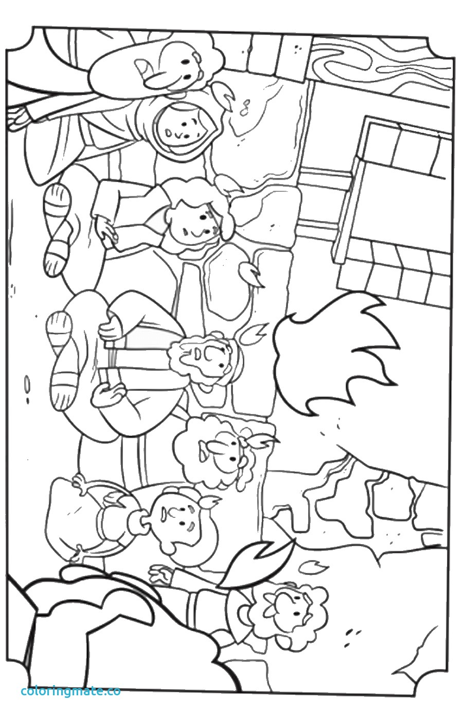 904x1400 Pentecost Coloring Page