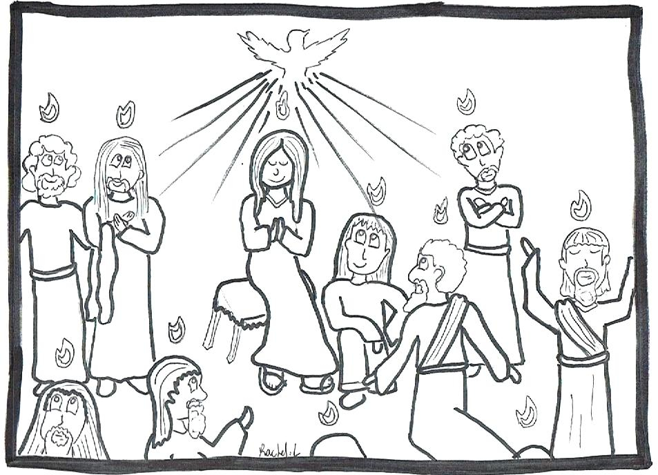 953x688 Pentecost Coloring Page Feast Of The Weeks In Pentecost Coloring