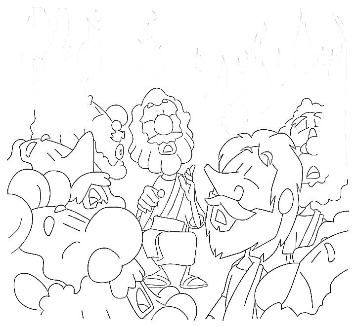 720x663 Pentecost Coloring Page