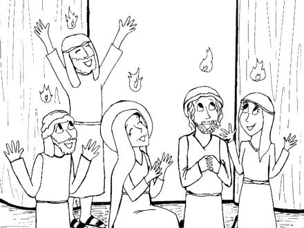 440x330 Pentecost Coloring Pages Coloring Page New Testament Coloring