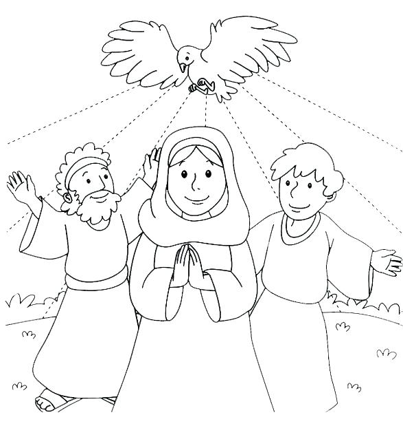 587x619 Pentecost Coloring Pages Peter Preaching At Pentecost Coloring