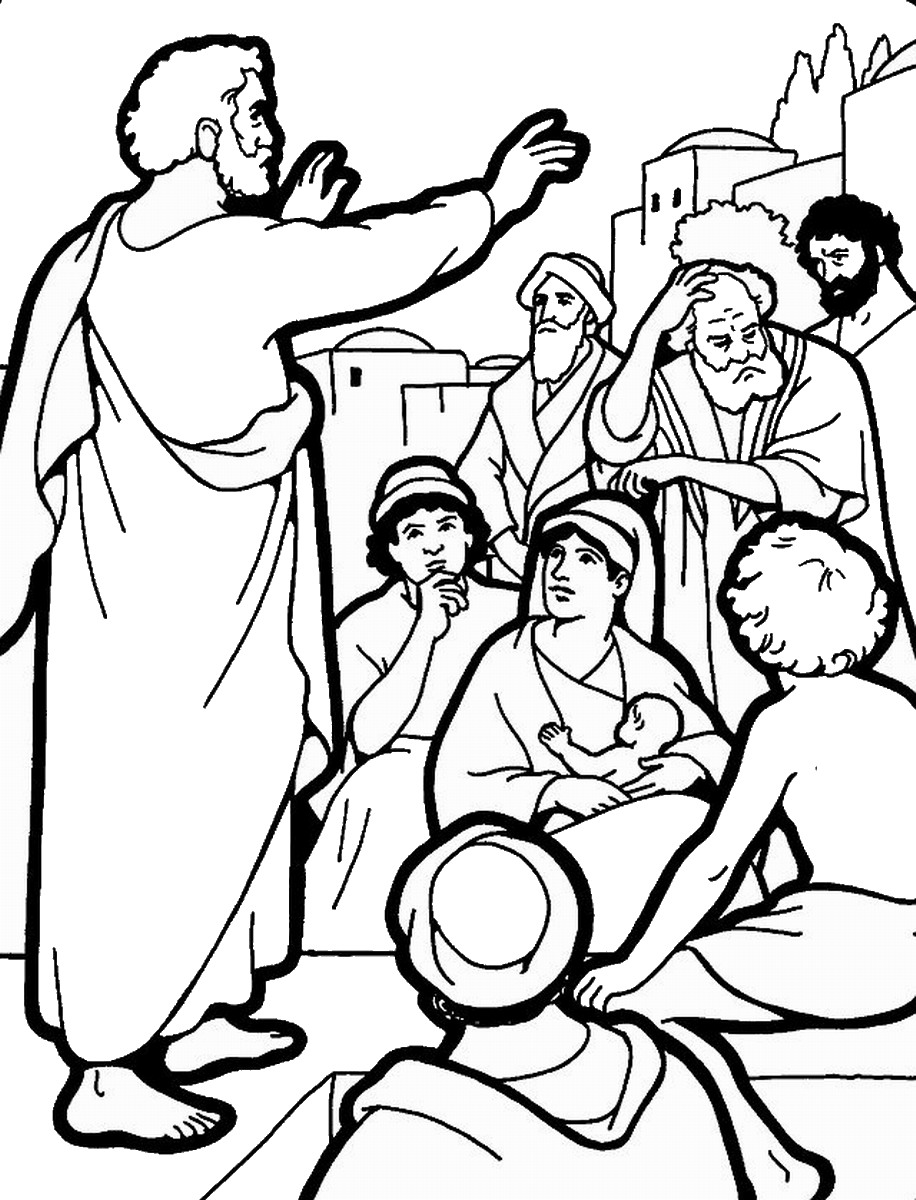 916x1200 Pentecost Coloring Pages