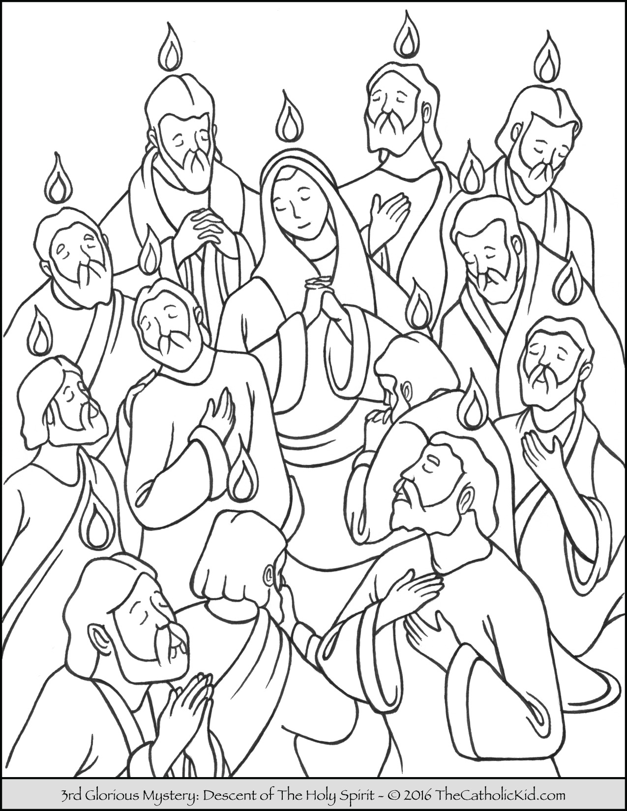 1275x1650 Pentecost Sunday Coloring Page