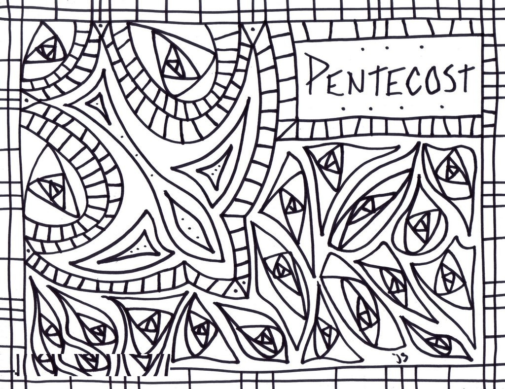 1024x789 Sunday School Coloring Pages Pentecost Catholic
